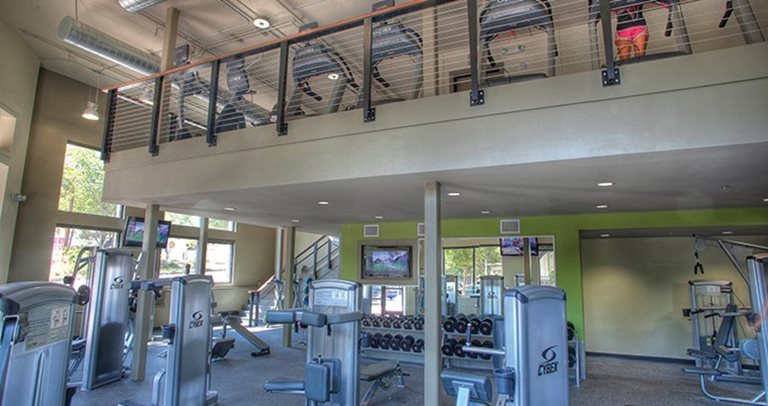 Fitness center at Sanctuary Lofts near Texas State University in San Marcos, TX 78666