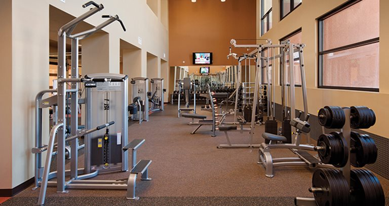Fitness center at Lobo Village