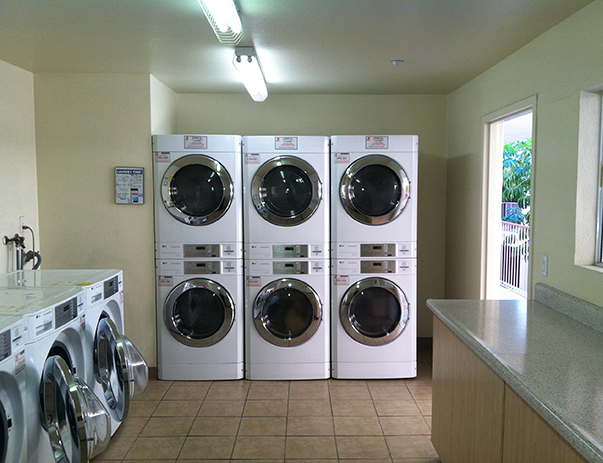 View of the laundry area at Aztec Corner