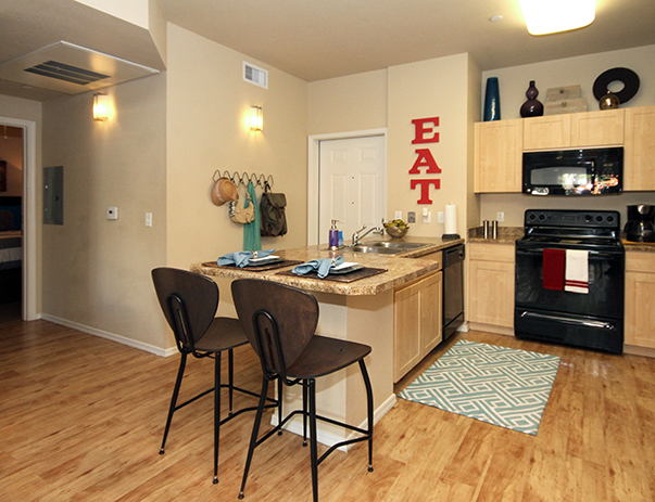 Fully equipped kitchen at Vista del Sol & Villas at Vista del Sol