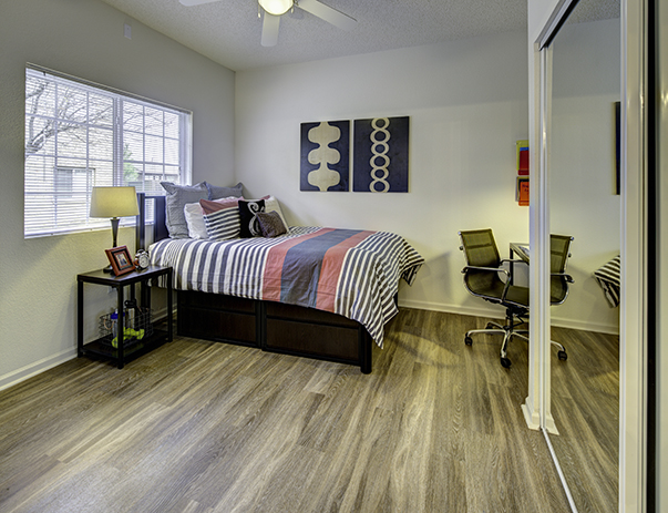 Fully furnished, private bedroom at Aggie Station