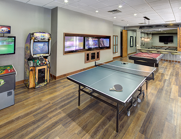 Game room at The Callaway House College Station