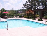 Swimming pool and sundeck at Independence Place Apartments