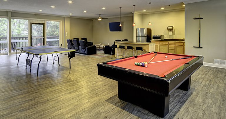 Game room at River Mill