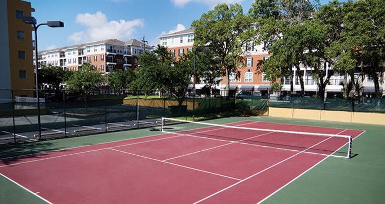 Tennis court at Avalon Heights