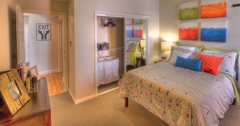 Fully furnished private bedroom at The Village at Overton Park