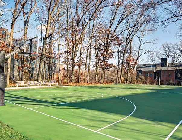 Basketball court at Lakeside Graduate Housing
