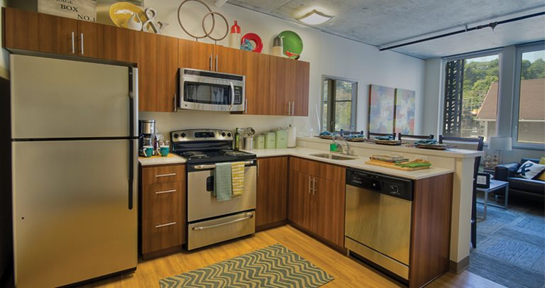 Fully Equipped Kitchen At University Pointe College Station