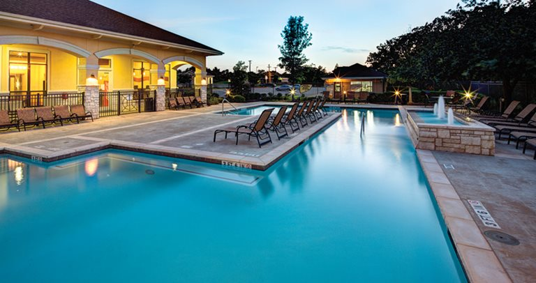 Swimming Pool And Sundeck At City Parc Fry Street In Denton Tx Near The