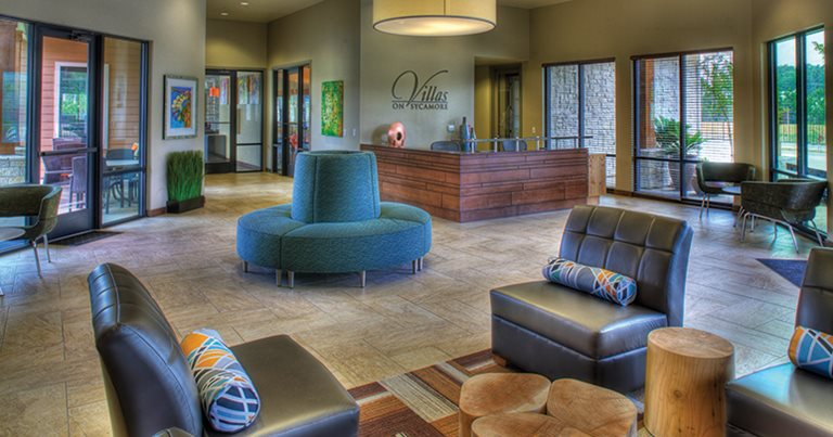 Lobby at Villas on Sycamore