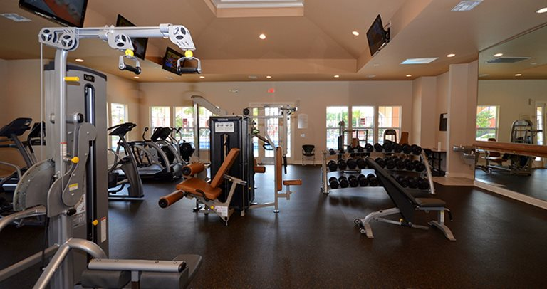 Fitness center at Blanton Common near Valdosta State University