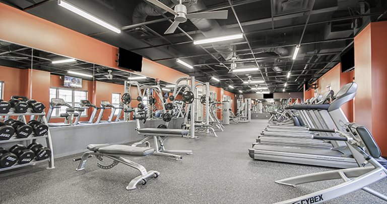 Fitness center at University Village Temple