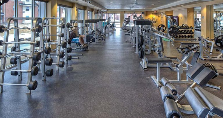 Fitness center at University Village at Sweethome