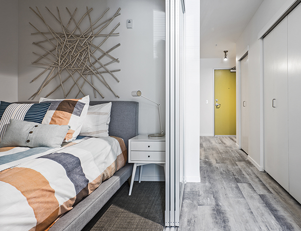 Private bedroom at ELEVEN at U District near the University of Washington