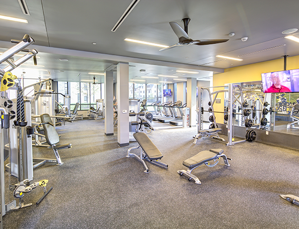 Fitness center at Honors Academic Village