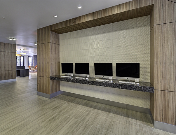 View of the lobby at Currie Hall
