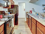 Fully equipped kitchen at 101 Green - a location of Campustown Rentals