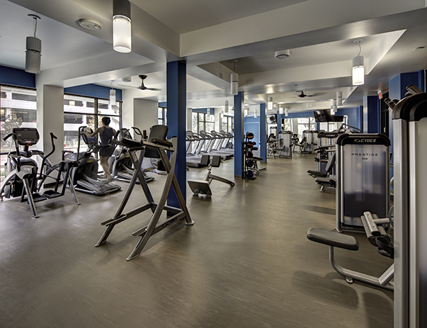 State-of-the-art fitness center at Currie Hall