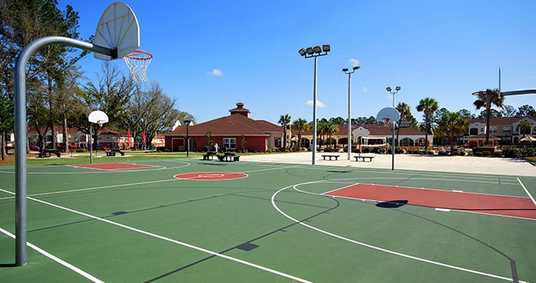 Basketball court at Blanton Common near Valdosta State University