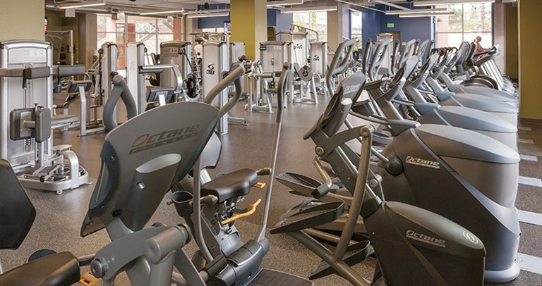 Fitness center at The Suites near Northern Arizona University