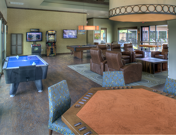 Game room at Villas on Sycamore