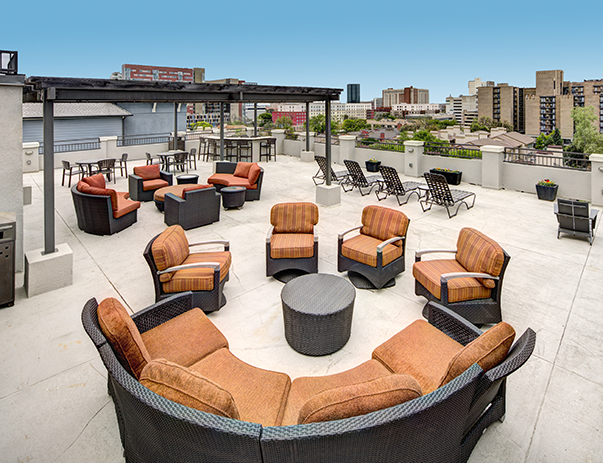 Rooftop lounge at The Block
