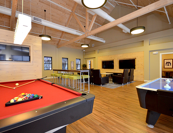 Game room at Park Point