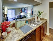 Fully equipped kitchen at 903 Fourth - a location of Campustown Rentals