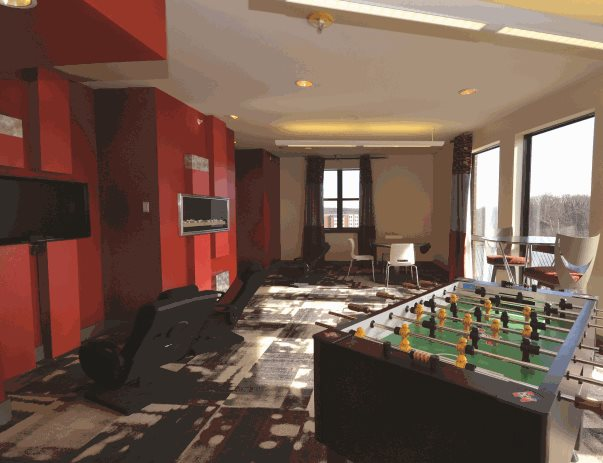 Game room at The Varsity
