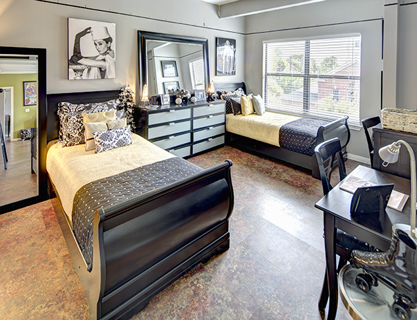 Spacious, private bedroom at The Block