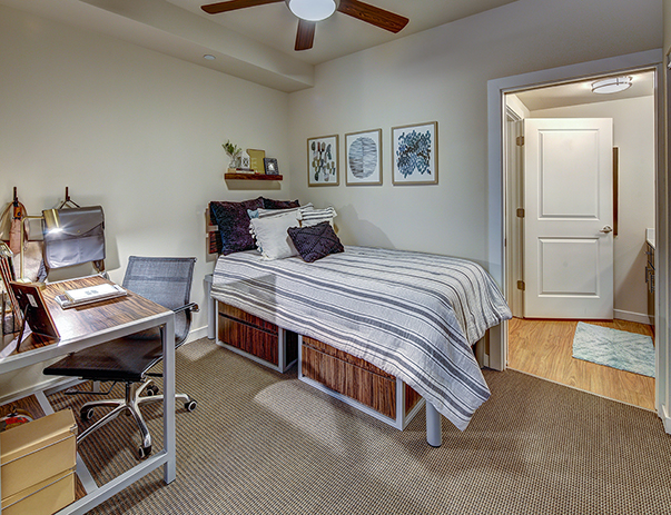 Fully furnished, private bedroom at The Callaway House Austin