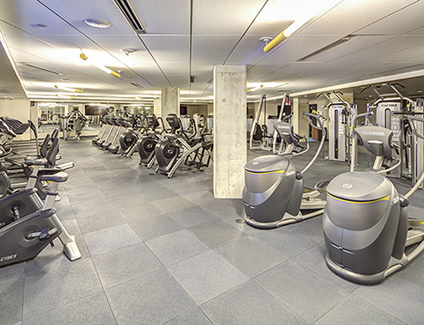 Fitness center at The Summit at University City