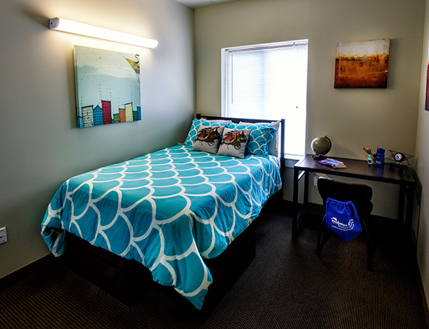 Fully furnished bedroom at Dolphin Cove