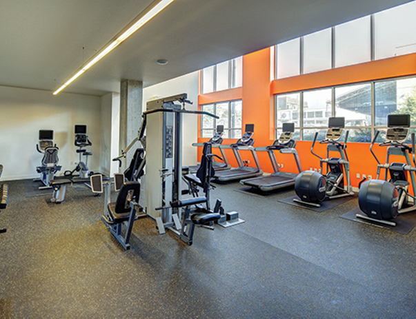 Fitness center at ELEVEN at U District near the University of Washington