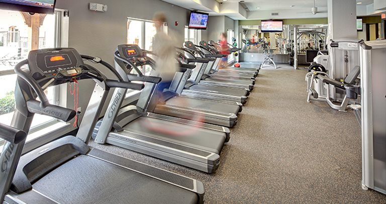 24-hour, state-of-the-art fitness center with cardio & strength equipment at 26 West near UT Austin