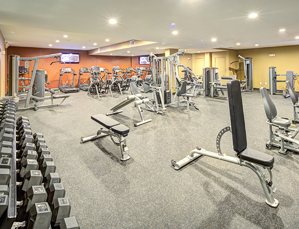Fitness center at The Block