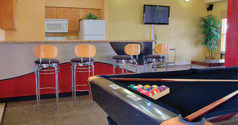 Game room at Heritage Commons