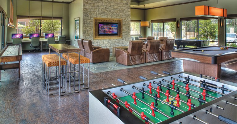 Game room at the Villas on Sycamore