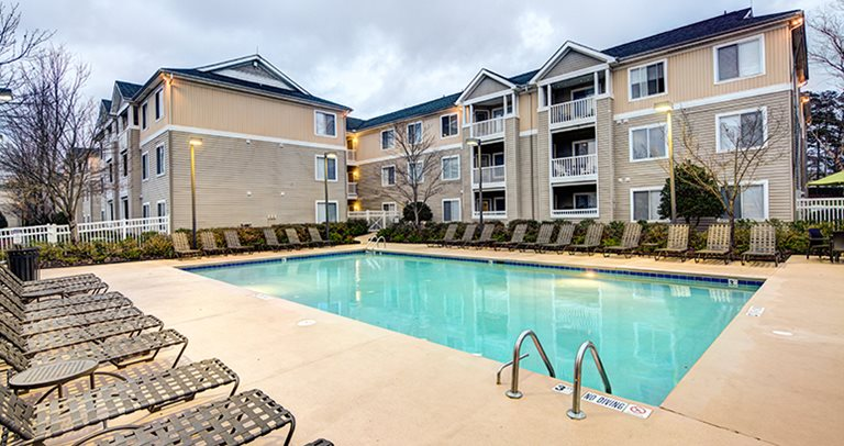 Swimming pool and sundeck at The Edge Charlotte