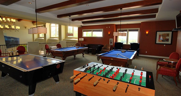 Game room at Vista del Campo near the University of California - Irvine