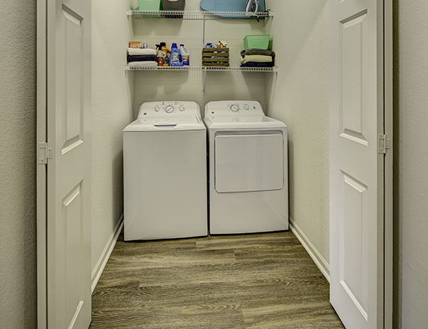 Washer and dryer in every apartment at Aggie Station