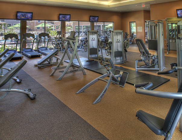 Fitness center at Villas on Sycamore