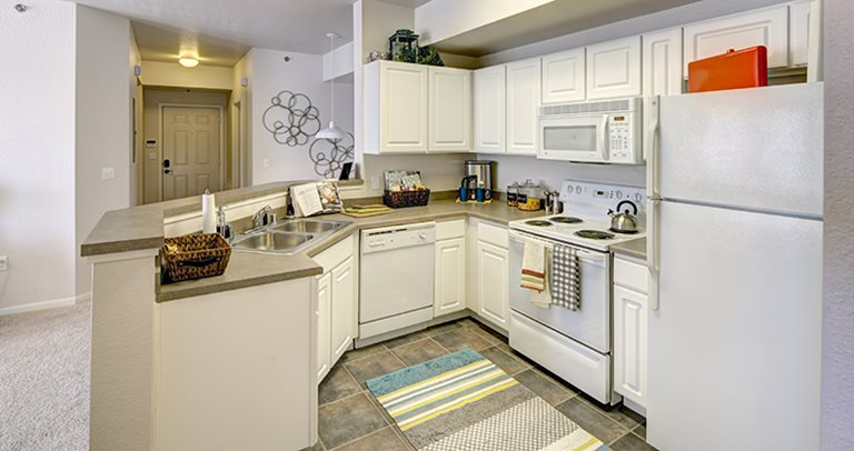 Fully equipped kitchen at Grindstone Canyon.
