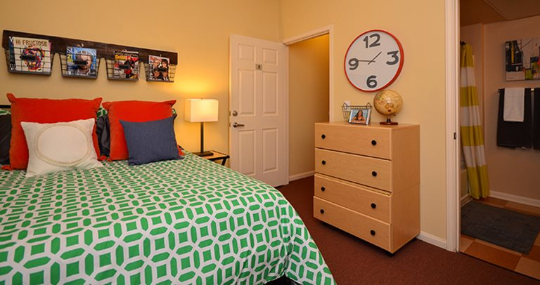 Spacious private bedroom at University Village Fresno