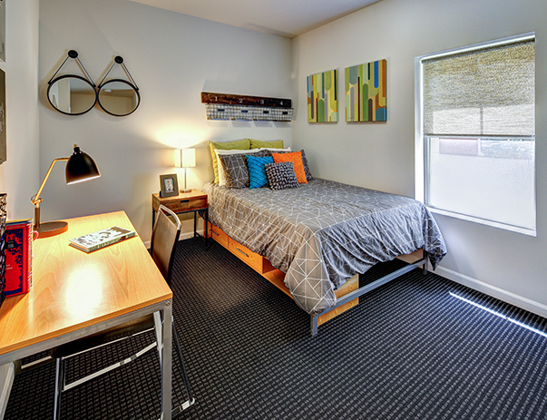 Bedroom at Chauncey Square near the Purdue University.