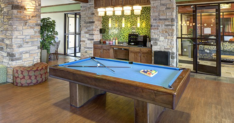 Game room at Villas at Chestnut Ridge