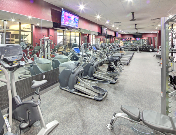 Fitness center at The Callaway House College Station