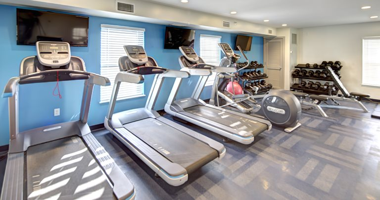 Fitness center at U Club Binghamton