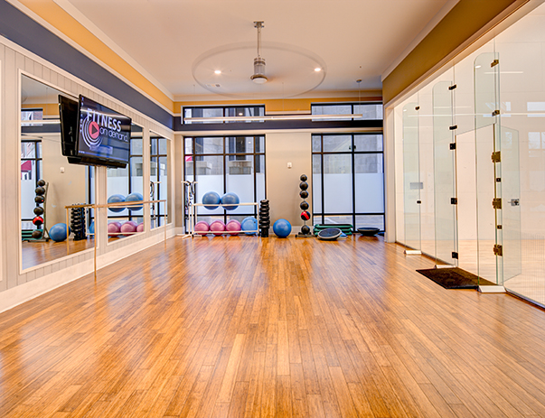 Fully equipped yoga studio at The Standard at Athens