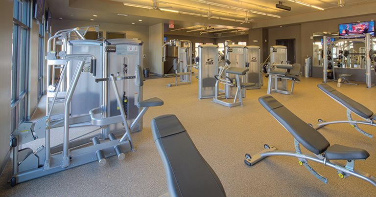 Fitness center at The Village at Overton Park
